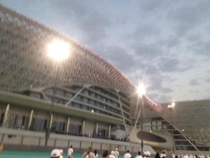 Yas Viceroy, a luxury hotel that straddles the track