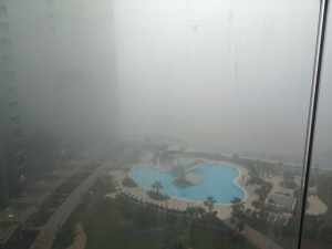 Morning view from my balcony to 5th flr pool