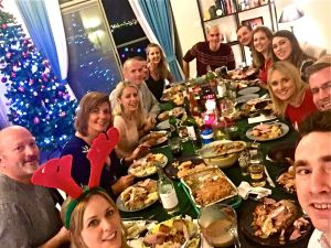 Friends Ciara & John hosted a fun Christmas dinner last weekend